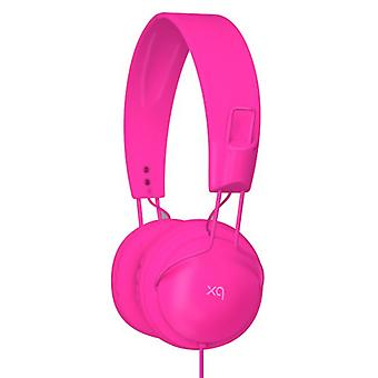 XQISIT XQBEATS Stereo Headset Over the Ear pink