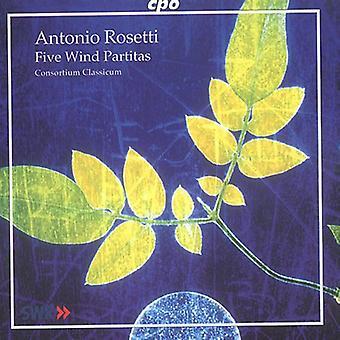 A. Rosetti - Antonio Rosetti: 5 Wind Partitas [CD] USA import
