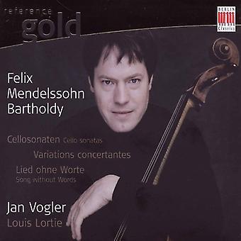 F. Mendelssohn - Mendelssohn: Sonate per violoncello; Concertante di variazioni; Canzone senza parole [CD] USA importare