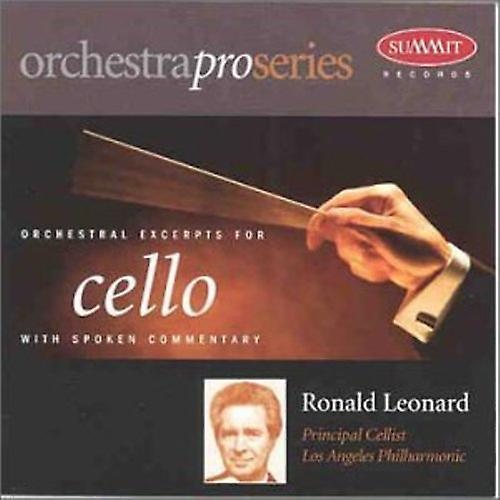 Ronald Leonard - Orchestral Excerpts for Cello with Spoken Commentary [CD] USA import