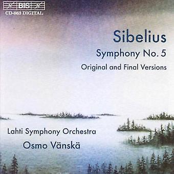 J. Sibelius - Sibelius: Symfoni No. 5 (oprindelige og endelige versioner) [CD] USA import