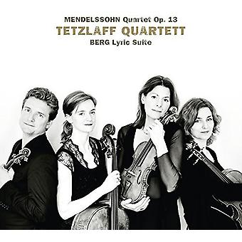 Berg / Tetzlaff kvartetten - lyrisk Suite [CD] USA import