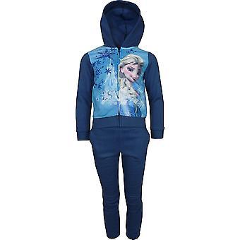 Girls Disney Frozen Elsa & Anna Fleece Full Zip Hooded Sweatshirt PH1015