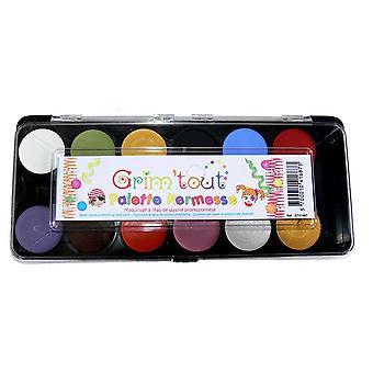 Grim'tout 12 farve ansigt maleri Kit Kermesse