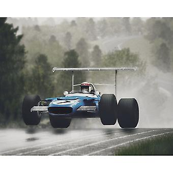 Sporting Display Jackie Stewart Flying Scot Mounted Picture