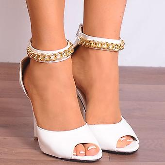 Koi Couture White Jo Faux Leather High Heels
