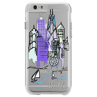 IPhone Case-Mate City impressions Chicago 6 Plus / 6 s Plus cas - Purple/Clear