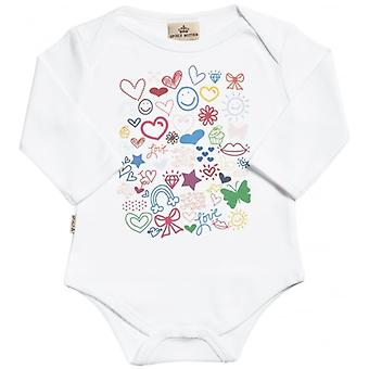 Spoilt Rotten Brights Long Sleeve Organic Baby Grow