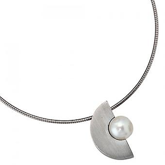 Trailer stainless steel stainless steel pendant with freshwater pearl Pearl