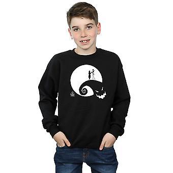 Disney Boys Nightmare Before Christmas Moon Oogie Boogie Sweatshirt