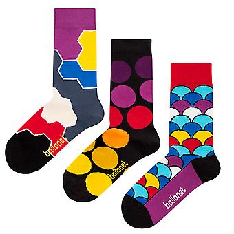 Together Gift Bundle | 3 pairs of combed cotton crew socks by Ballonet