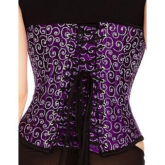 Mio Corset Stella Purple Swirl Underbust Corset AIC-01-1145