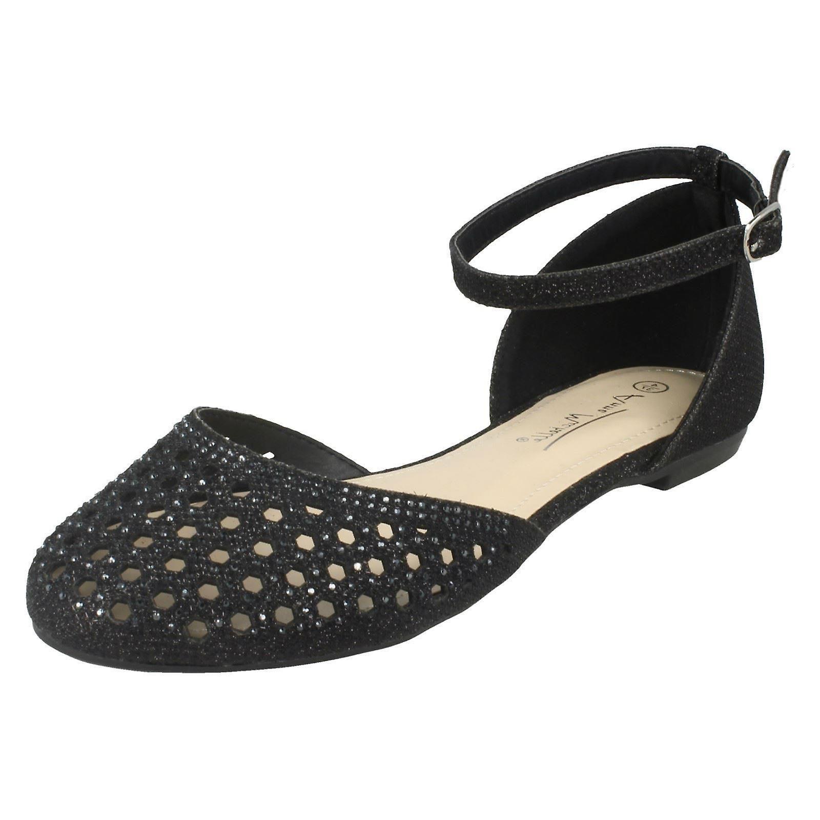 Ladies Anne Michelle Flat Punched Vamp scarpe F80140 | I più venduti in tutto il mondo  | Scolaro/Ragazze Scarpa