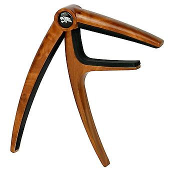Tiger Guitar Capo for Electric & Acoustic Guitar - Dark Wood