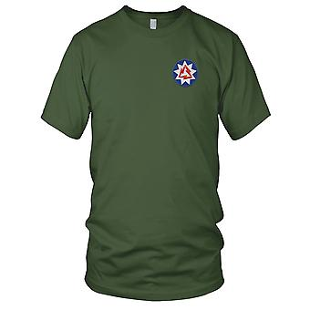 US Army - 93rd Signal Battalion Embroidered Patch - Mens T Shirt