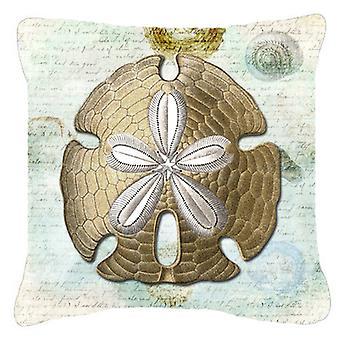 Carolines Treasures  SB3025PW1818 Sand Dollar    Canvas Fabric Decorative Pillow
