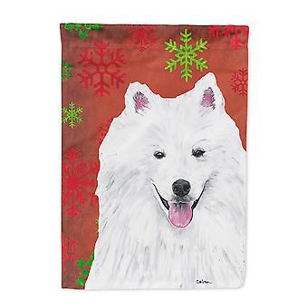 Amerikaneren Eskimo røde og grønne snøflak ferie Christmas flagg