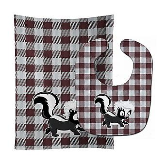 Carolines Treasures  BB9168STBU Skunk Baby Bib & Burp Cloth