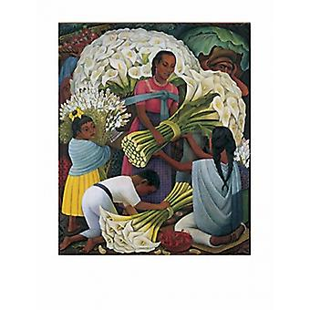 The Flower Vendor Poster Print by Diego Rivera (29 x 38)