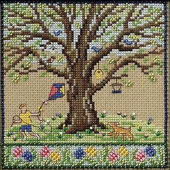 Spring Oak Counted Cross Stitch Kit-5.25