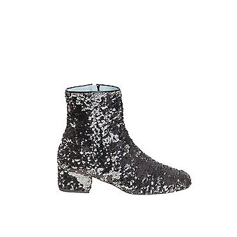 Chiara Ferragni ladies CF1732 black sequin ankle boots
