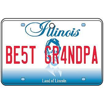 Illinois - Best Grandpa License Plate Car Air Freshener