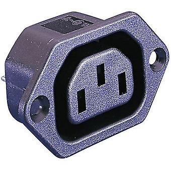 IEC connector PX Series (mains connectors) PX Socket, vertical vertical