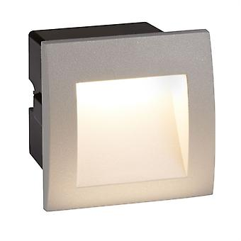 Ankle LED Indoor/Outdoor Recessed Square, Grey - Searchlight 0661GY
