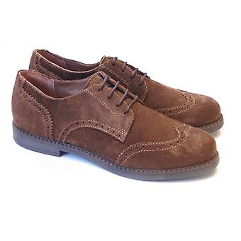 Ciao Boys Smart Shoes - Brown Suede Lace Up Brogue
