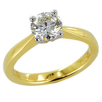Shipton and Co Ladies Shipton And Co Exclusive 18ct Yellow Gold 1.1ct Diamond Ring H/I1 S08535DI