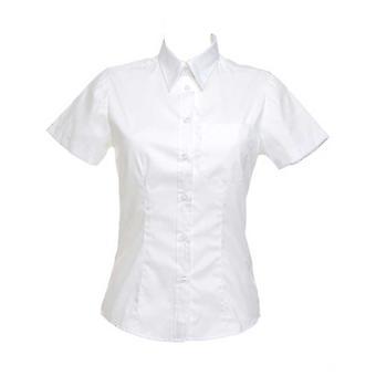 Kustom Kit Corporate pocket Ladies Oxford Short Sleeved Formal Work Blouse