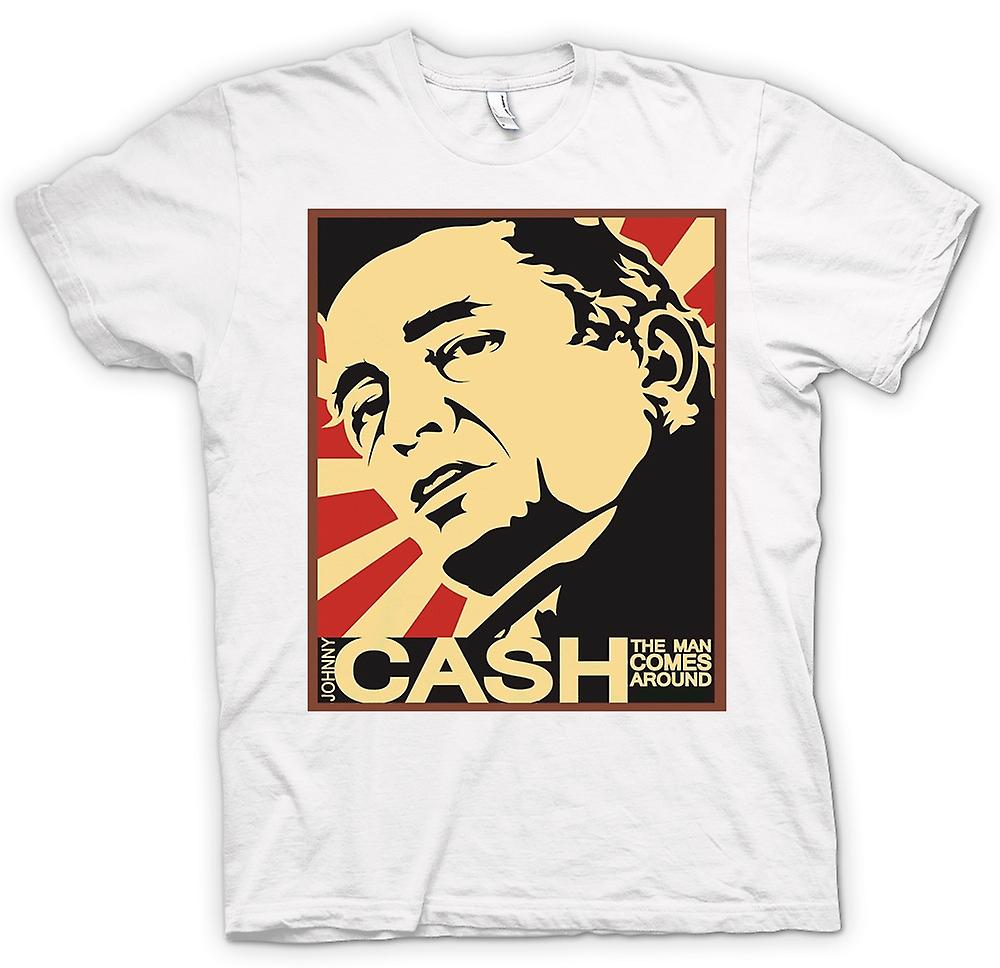 Heren T-shirt - Johnny Cash - Man Comes Around