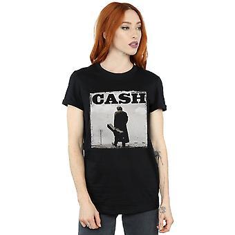 Johnny Cash Women's Walking Legend Boyfriend Fit T-Shirt