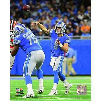Matt Stafford 2017 Action Photo Print