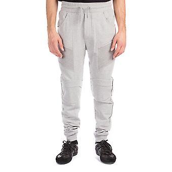 Pierre Balmain mænds bomuld ribbede Sweatpants bukser grå