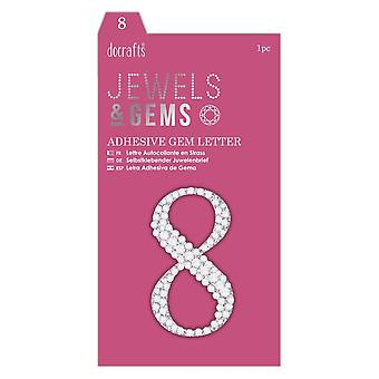 DoCrafts Adhesive Gem Numbers 0-9 | Numbers Listed |