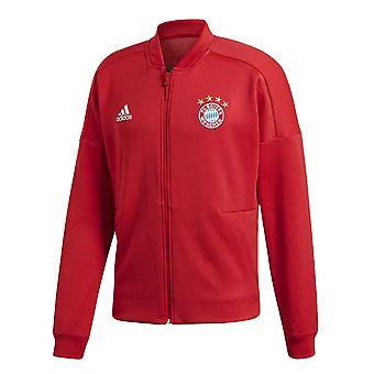 2018-2019 Bayern Munich Adidas ZNE Anthem Jacket (Red)