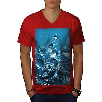 Drop Splash Photo Men RedV-Neck T-shirt   Wellcoda