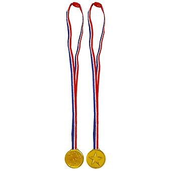 Gold Winners Medal on Cord