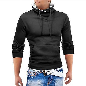 Herren Pullover Strick Sweat Shirt Stoff Watchdog Schal Kragen Sweatshirt