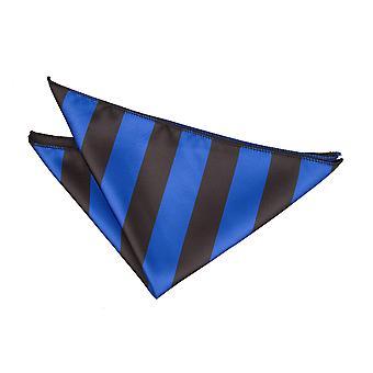 Royal Blue & Black Striped Handkerchief / Pocket Square