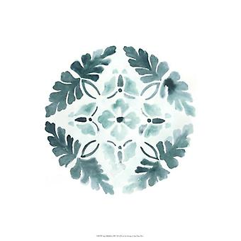 Aqua Medallions III Poster Print by June Vess (13 x 19)