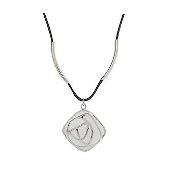 Silver Pendant with leather