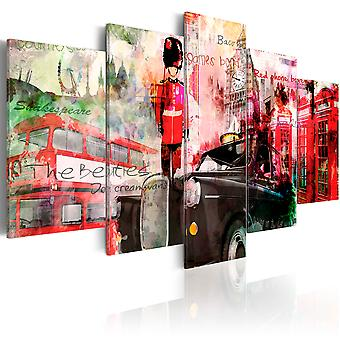 Canvas Print - Memories from London - 5 pieces