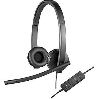 PC headset USB Stereo, Corded Logitech H570e Over-