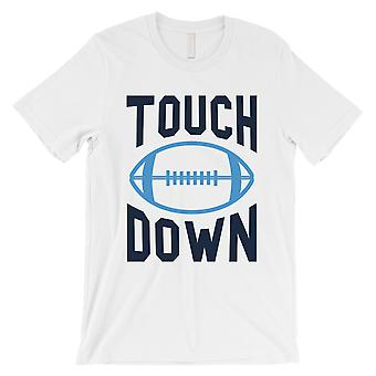 TOUCHDOWN Tennessee T-Shirt Mens Funny Game Day White Tee Shirt