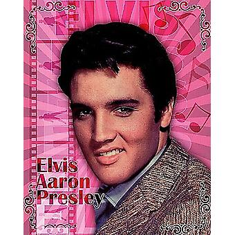 Elvis Aaron Presley Metal Sign 375Mm X 300Mm
