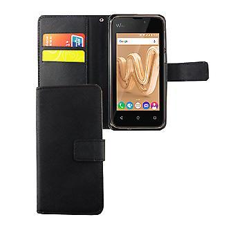 Handyhülle Tasche für Handy Wiko Lenny 3 Max Schwarz