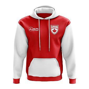 Канада концепция стране футбол Толстовка (красный)