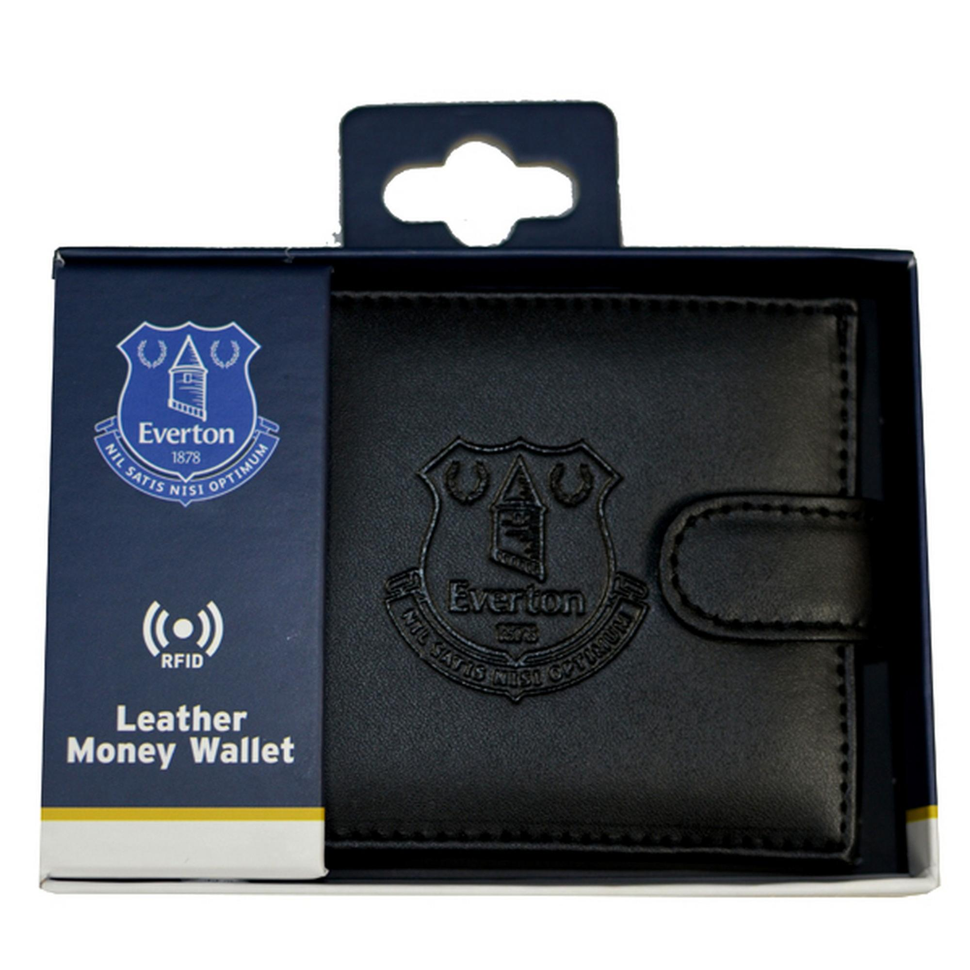 Everton FC Mens Official RFID Embossed Leather Wallet
